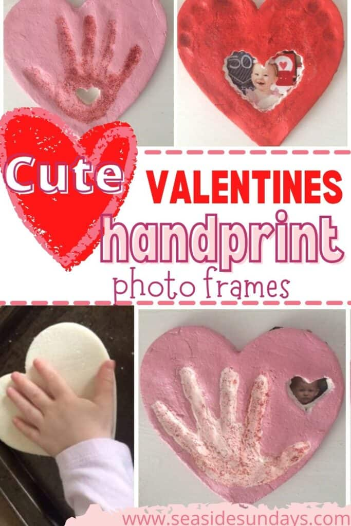 Hand print Photo frames for Valentine's day