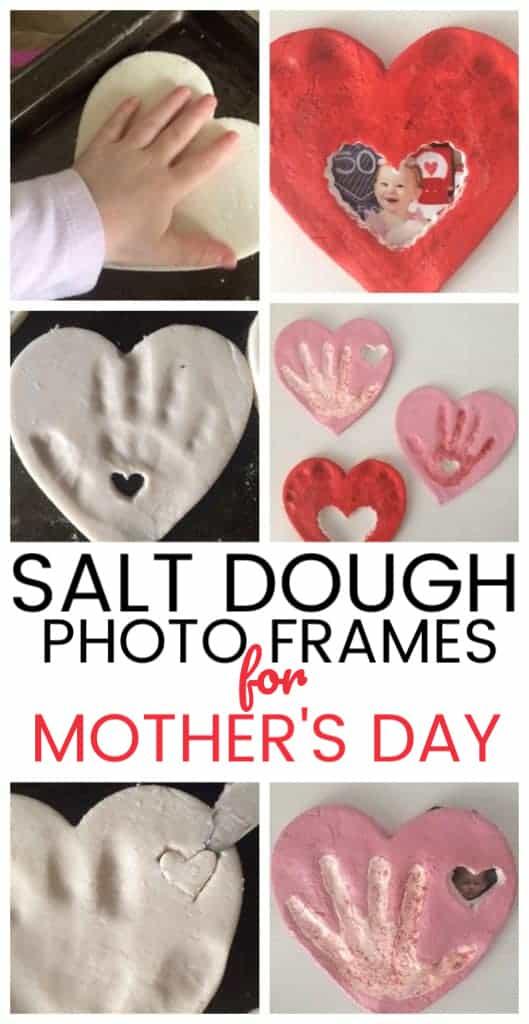 hand print craft for Mother's Day - salt dough craft