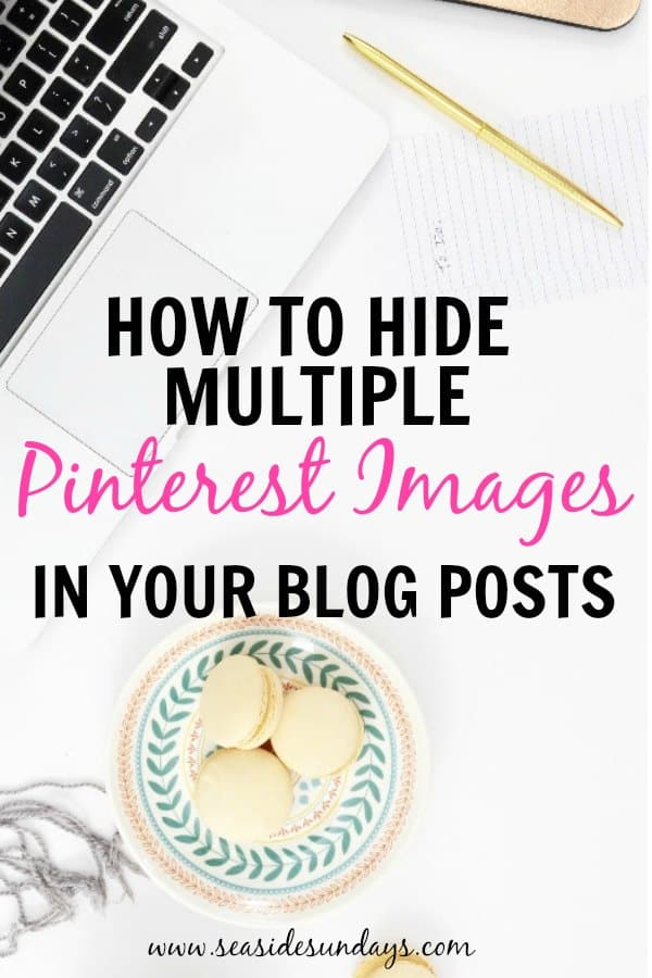 This trick to grow your blog traffic is so simple! This takes you step by step on what you need to do to create multiple images for your blog posts and hide them on WordPress. This is a great way to grow your Pinterest traffic and A/B test different pinnable images.
