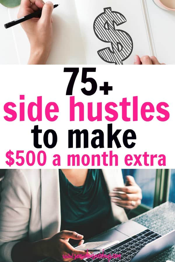 Make money fast with these side hustle ideas for making money at home and online. Here are lots of easy ways to make extra money for SAH moms and college students. Get Money making Tips for getting started with Etsy, getting paid to write, online and other work at home jobs. Learn about flexible jobs that pay immediately. If you want to make money from home, these 75 jobs will give you great ideas and options.