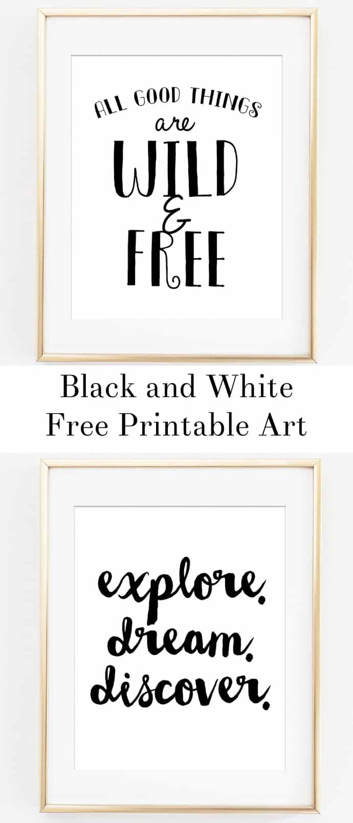 Omg these free printables are so cute! They would look awesome in a nursery or entryway. I love black and white free printable art like this as it goes with any decor in the house and would look amazing in any room!
