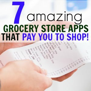 These smartphone apps are a MUST for anyone who wants to save money on groceries! No couponing required! I've made hundreds just from scanning my receipt at the grocery store. #saveongroceries #savemoney #frugalliving
