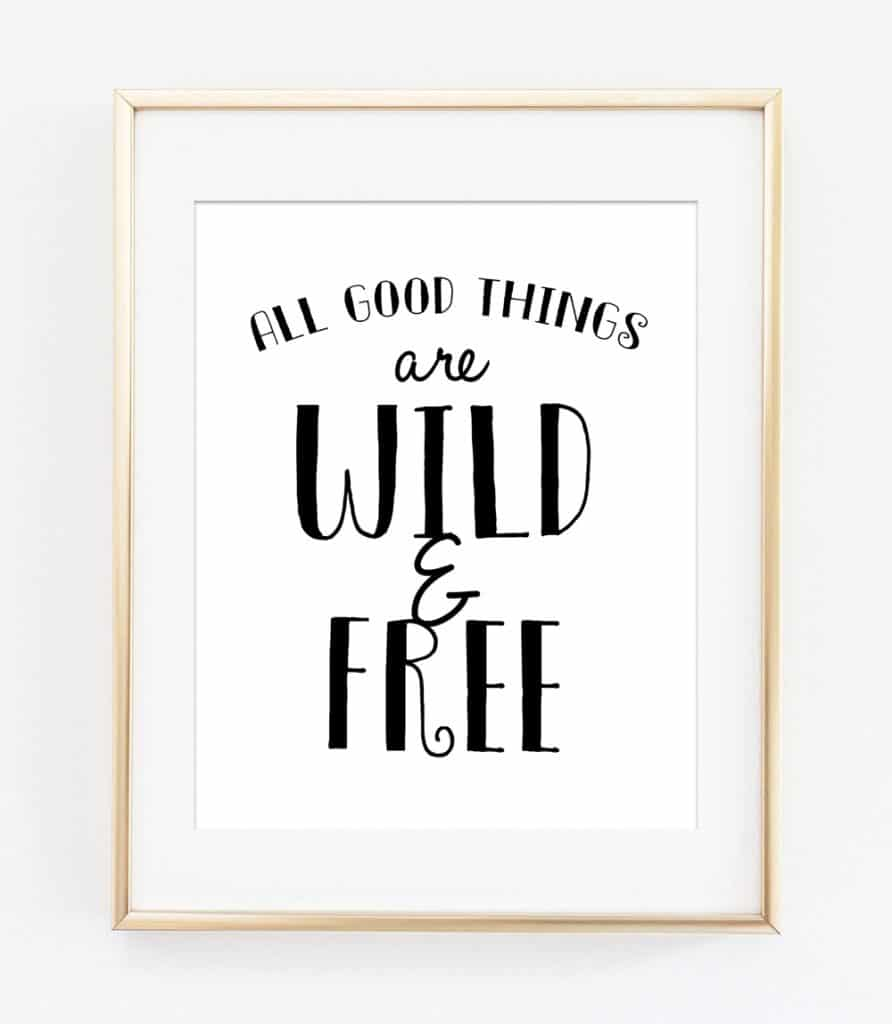 Black And White Free Printable Wall Art