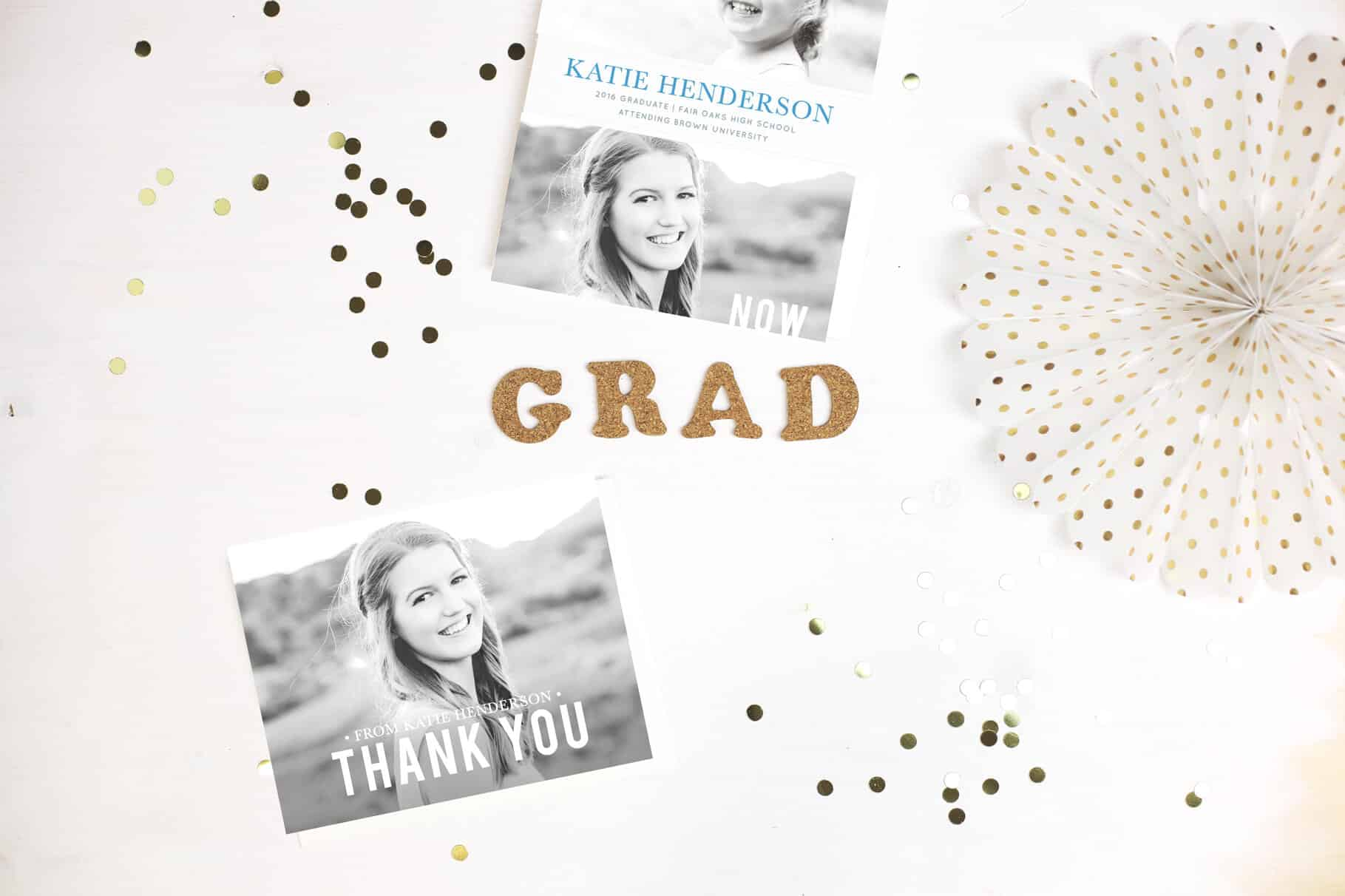 Basic Invite foil custom graduation card