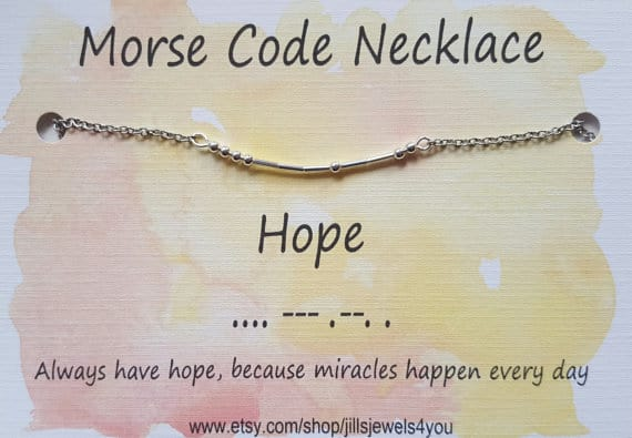 gift ideas for a friend struggling with infertility - morse code necklace