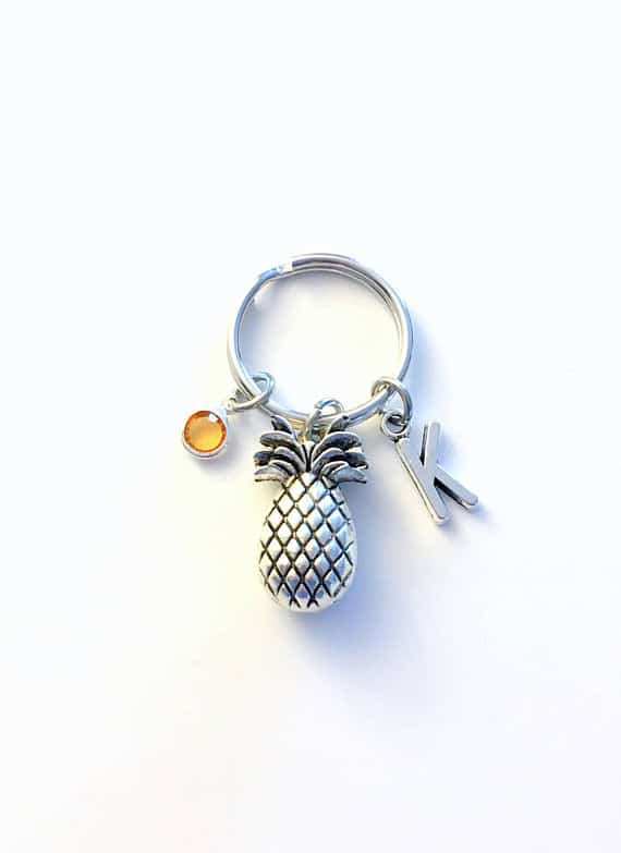 gift ideas for a friend struggling with infertility - fertility key chain pineapple
