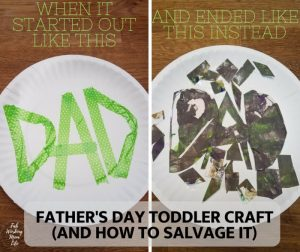Father's Day ideas - paper plate Father's day craft for kids