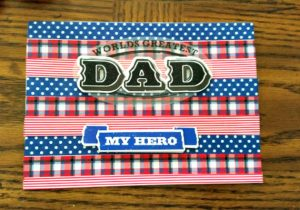 Father's Day ideas - washi tape card