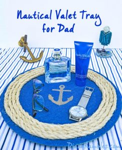 Father's Day ideas - nautical valet tray