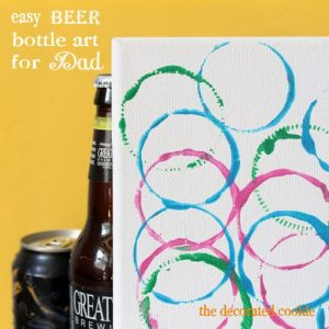 DIY Beer Bottle Artwork for Father's day. Father's day ideas
