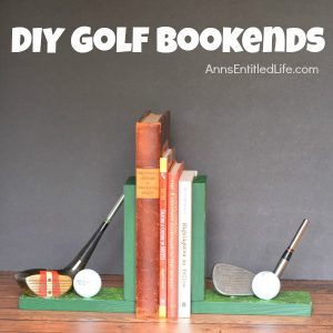 DIY Golf bookends - Father's day ideas - gift