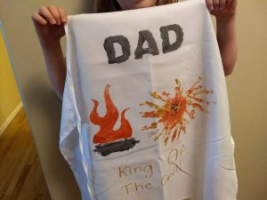 Father's day ideas - DIY grilling apron for dad