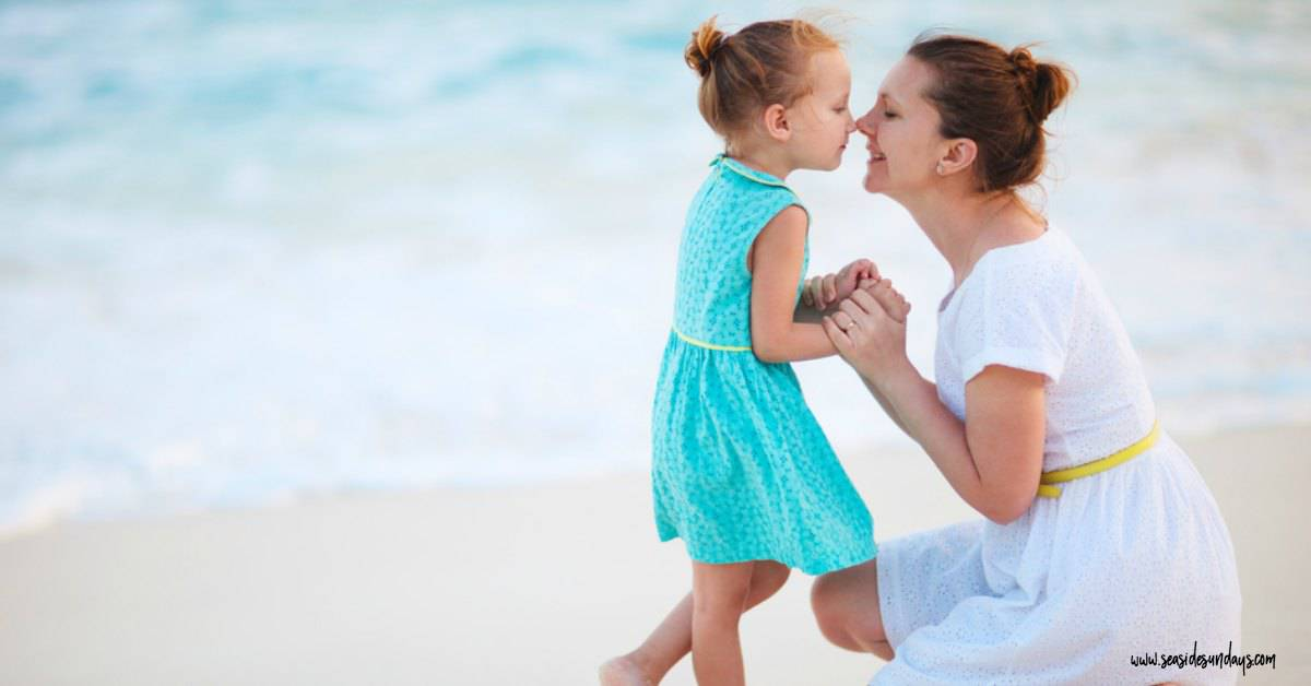 Mother and teen daughter summer activities all