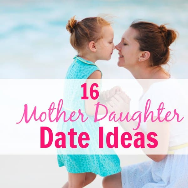 Mother Daughter Date Ideas! This is a great list of things to do on a mommy daughter day out. Lots of fun activities for mommy and me date nights and adventures. Great for bonding with your child.