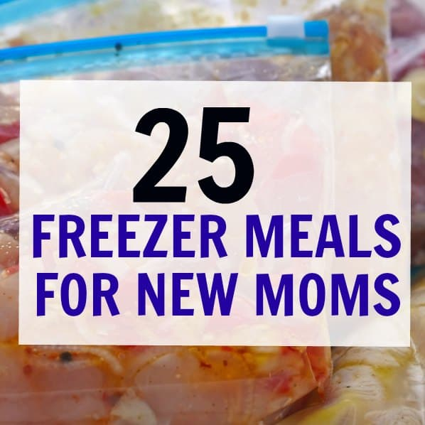 Make ahead Freezer meals for new moms | great tasting meals for filling up the freezer before baby. Having a hot meal ready to go makes life much easier for a postpartum mom. These make-ahead meals are healthy and great for breastfeeding moms who need to keep their milk supply up. Many of these freezer meals are gluten free, paleo and vegan. Tons of vegetarian freezer meals and many are kid-friendly too!