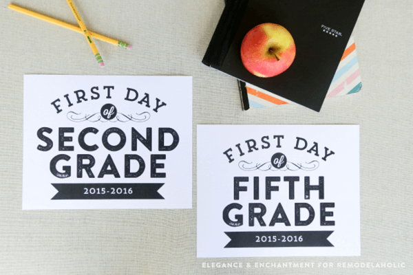 image regarding First Day of 5th Grade Printable called Free of charge Printable Very first Working day Of College or university Signs and symptoms For All Grades