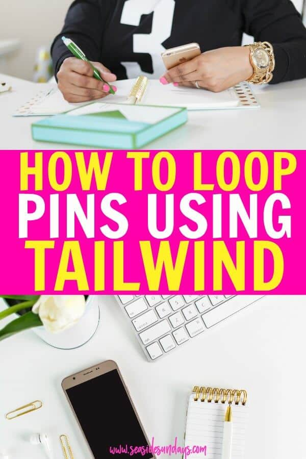 How to use Tailwind to loop your pins on Pinterest. Want to learn how to get traffic to your blog using Pinterest without spending hours online? Tailwind can help you and my technique for scheduling pins quickly will only take you 15 minutes a month. This Tailwind tutorial is great if you are just getting started with Tailwind and want to learn how to schedule pins with Tailwind the easy way. Grow your blog traffic quickly with my method.