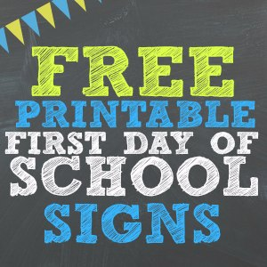 picture about Last Day of Preschool Sign Printable called Absolutely free Printable 1st Working day Of Higher education Indications For All Grades