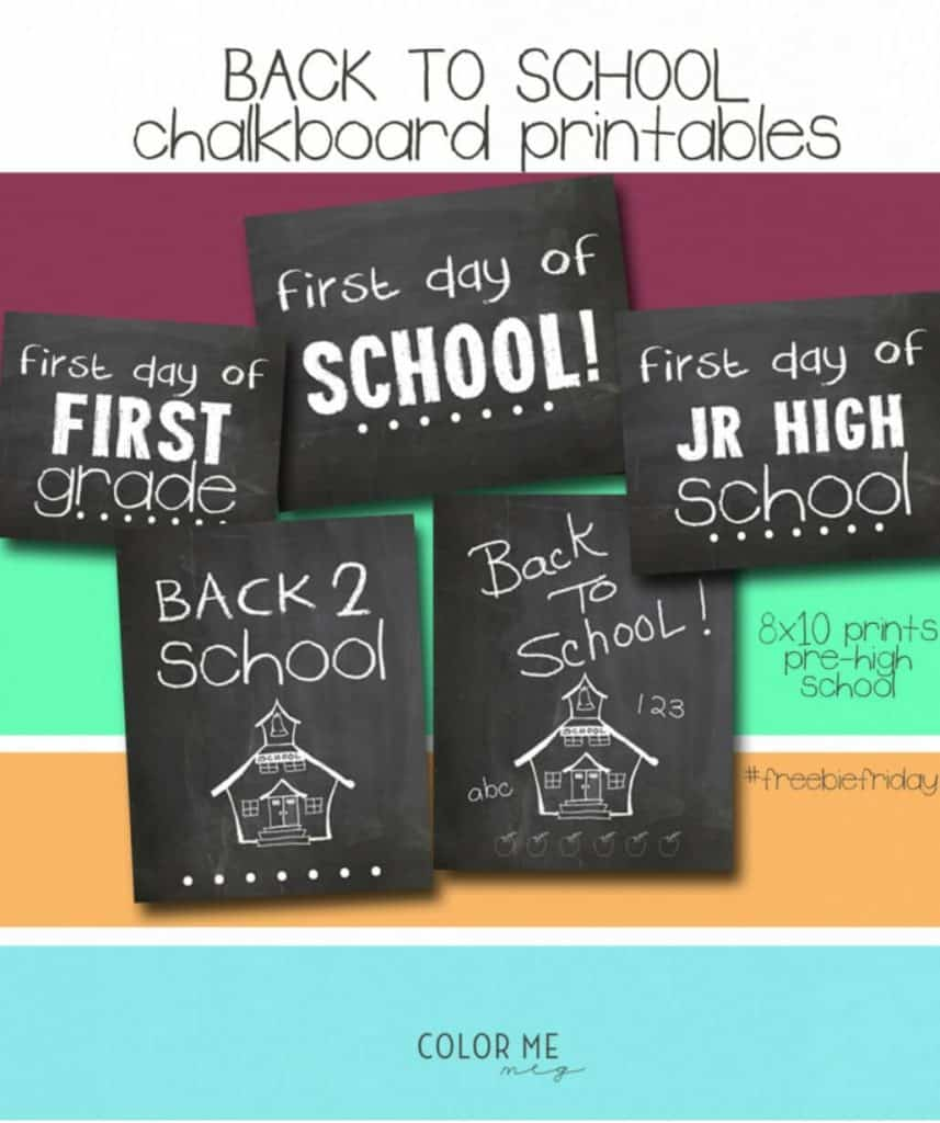 photo regarding First Day of 1st Grade Printable called Totally free Printable 1st Working day Of College Symptoms For All Grades