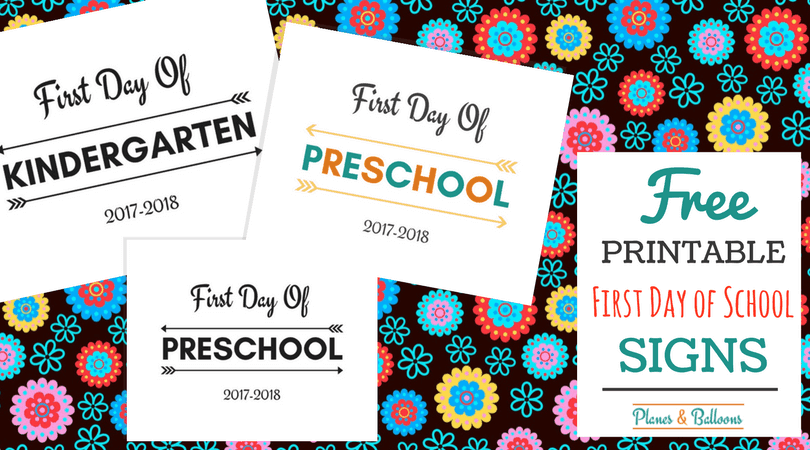 picture about First Day of Preschool Free Printable titled Totally free Printable 1st Working day Of Higher education Signs and symptoms For All Grades