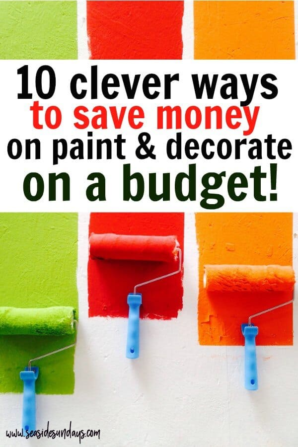 Save money on renos with these great tips for painting on a budget! Tips for redecorating on a budget. Save money when painting a room with these great tips. Whether you are using Revere Pewter by Benjamin Moore or builder basic beige, there are a lot of ways to save money when doing a home reno. Find out which are the best paintbrushes to buy and the best painting techniques that could save you hundreds!