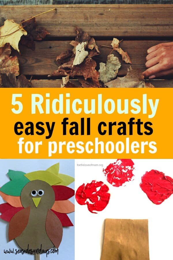 stunning Fall Craft Preschool Part - 11: fall crafts for preschoolers. These easy autumn crafts are great toddler  activities. Simple fall