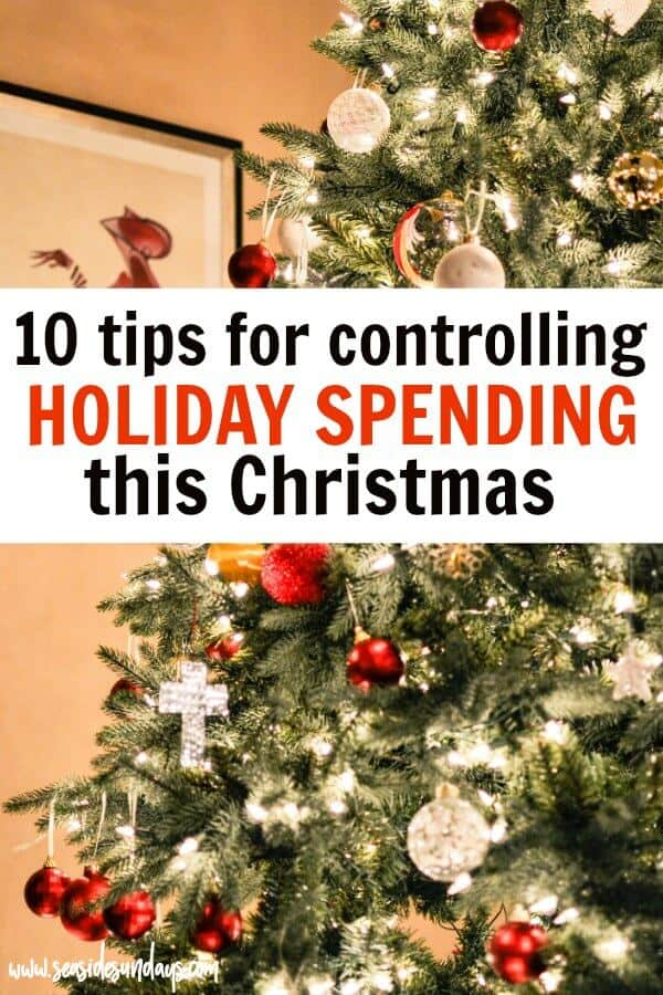 Save money for Christmas with these money saving tips that actually work! If you want help with your holiday budget, these tips and tricks for cutting your holiday spending are perfect for having a debt-free Christmas season. Holiday spending tips that actually work, even if you hate frugal living!