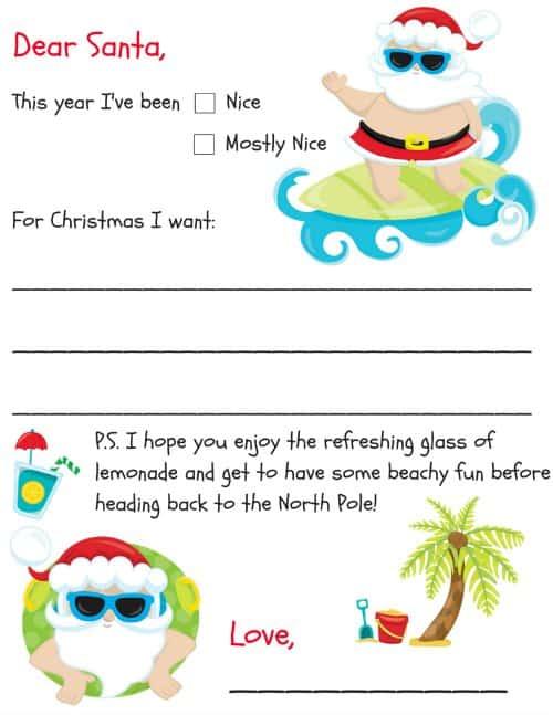 Free Printable Letter To Santa Templates