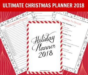 Christmas Planner 2018 Printable Holiday Planner 2018 - this Christmas planner is packed with tons of great pages for to-do lists and Christmas budget planning. Get the free bonus children's Christmas journal too