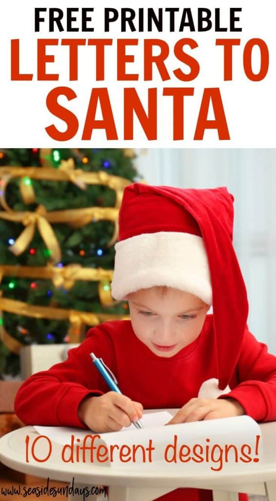 image relating to Printable Letters From Santa named Free of charge Printable Letter In the direction of Santa Templates