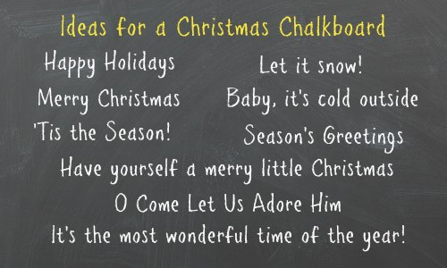 Christmas chalkboard sign-How To Make A Chalkboard Sign
