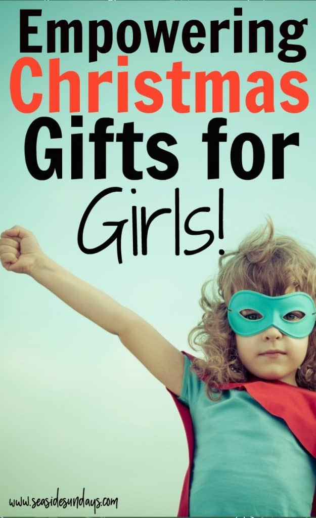 Girl power gifts for girls - empowering gift ideas for little girls, feminist gifts for teens and ideas for games and books about famous women. This gift guide for girls is packed with great ideas for birthdays and Christmas.