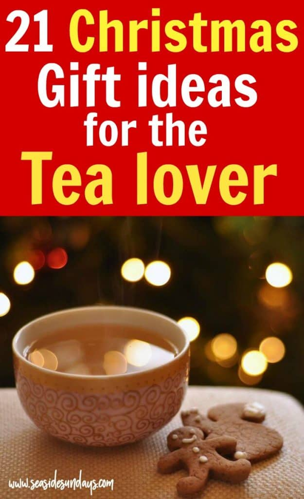 Christmas gift ideas for tea lovers! Looking for the perfect Christmas gift to make a tea lovers gift basket? If you want to create your own DIY tea lovers gift, this gift guide is packed with ideas for Christmas gidfts such as kettles, tea sampler sets, tea strainers and more - all available on Amazon!