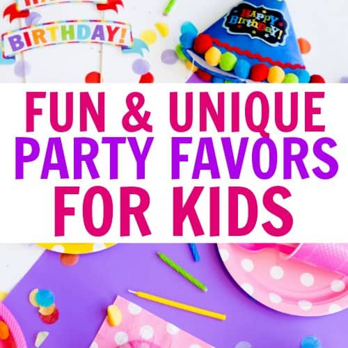 Unique goodie bag ideas for birthday parties! I LOVE these cheap and fun party favors for kids! If you are stuck for great goody bag ideas, check out this list of fun ideas for girls and boys of all ages!