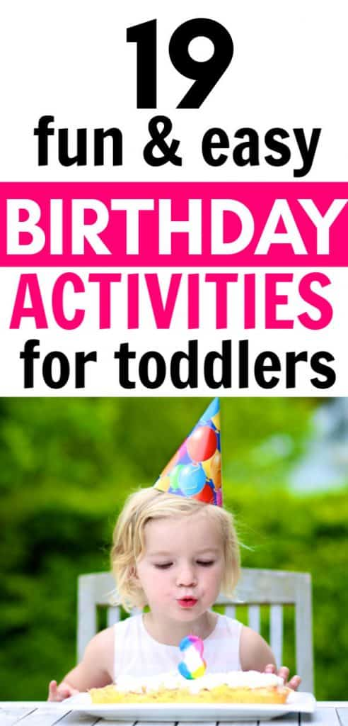 Birthday activities for 2 year olds