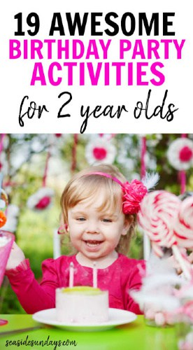 Birthday Party Activities For 2 Year Olds