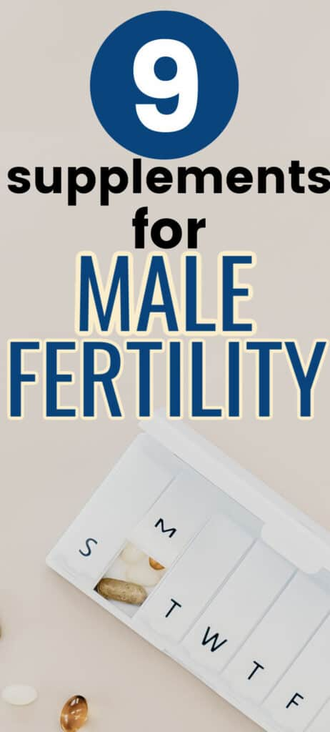 supplements for male fertility