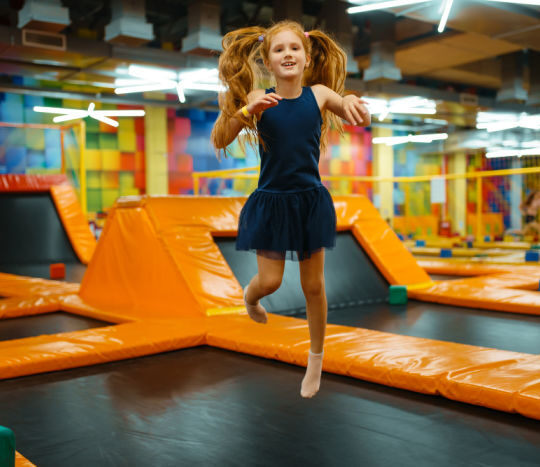 Trampoline park date for daddy and daughter